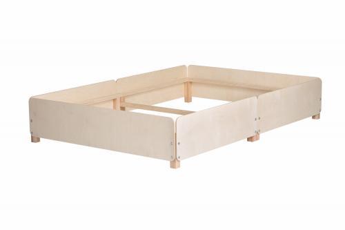 Doppelbett Gigapur G2 | Birke Schichtholz naturbelassen