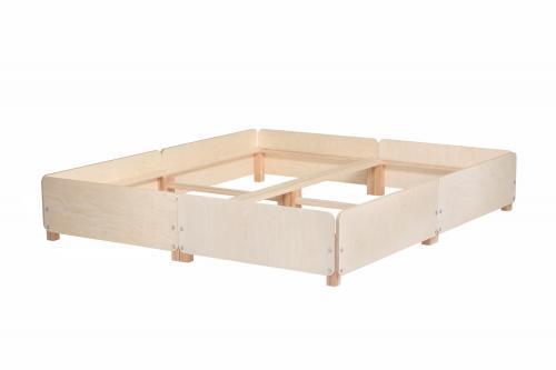 Doppelbettgestell Gigapur G2   Birke Schichtholz naturbelassen