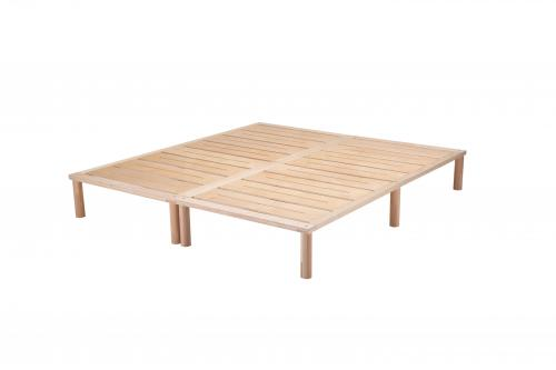 Gigapur G1 26998 Bett | Lattenrost und Bettgestell | Birke Natur Schichtholz | Bettrahmen belastbar bis 195Kg | 180 x 200 cm (2 x 90 x 200 cm)