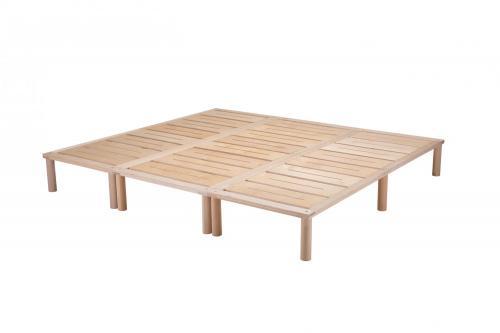 Gigapur G1 29746 Bett | Co-Sleeping | Birke Natur Schicht-Holz | Bettrahmen belastbar bis 195 kg | 220 x 200 cm (2 x 70 x 200 cm + 1 x 80 x 200 cm)