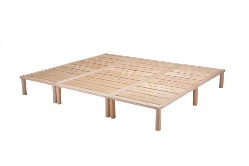 Gigapur G1 29753 Bett   Co-Sleeping   Birke Natur Schicht-Holz   Bettrahmen belastbar bis 195 kg   230 x 200 cm (2 x 70 x 200 cm + 1 x 90 x 200 cm)