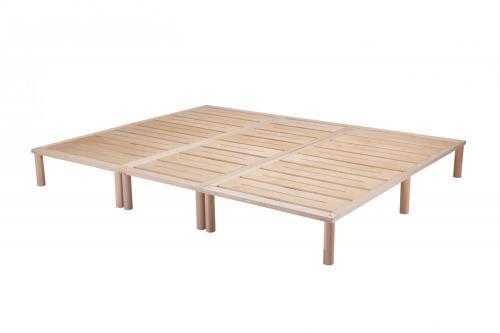Gigapur G1 29760 Bett | Co-Sleeping | Birke Natur Schichtholz | Bettrahmen belastbar bis 195 kg | 250 x 200 cm (1 x 70 x 200 cm + 2 x 90 x 200 cm)