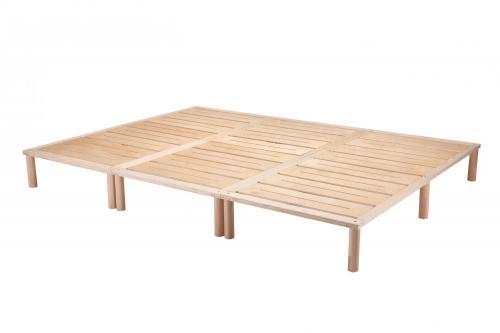 Gigapur G1 29807 Bett | Co-Sleeping | Birke Natur Schichtholz | Bettrahmen belastbar bis 195 kg | 300 x 200 cm (3 x 100 x 200 cm)