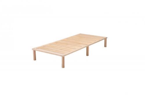 Gigapur G1 26882 Bett | Lattenrost und Bettgestell | Birke Natur Schichtholz | Bettrahmen belastbar bis 195 Kg | 90 x 200 cm